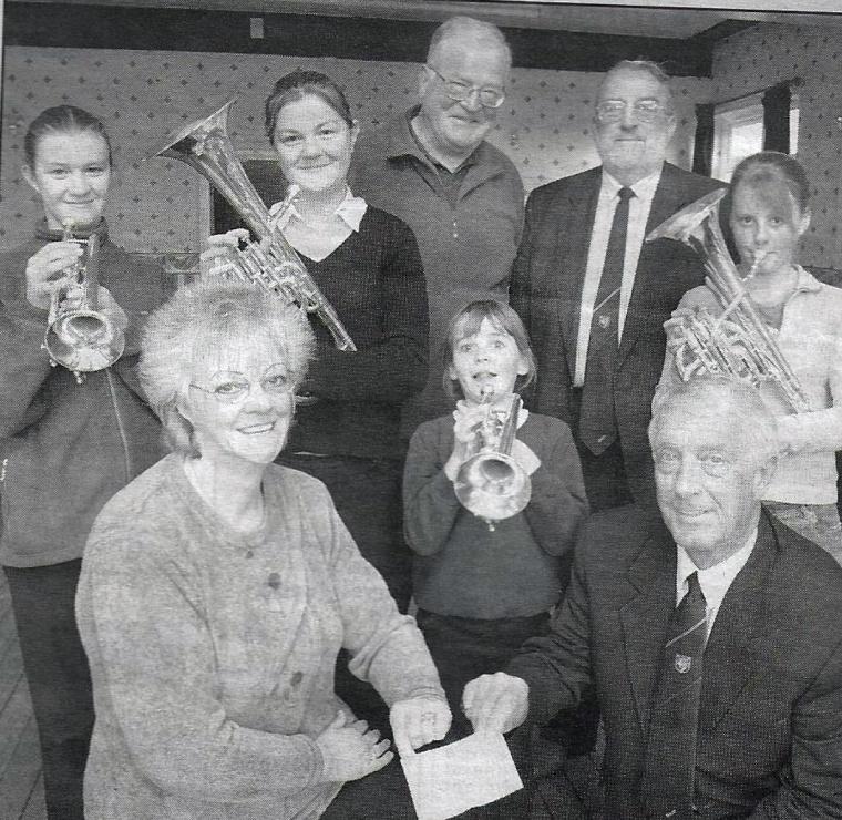 Masons' £500 donation for Marsden Junior Band