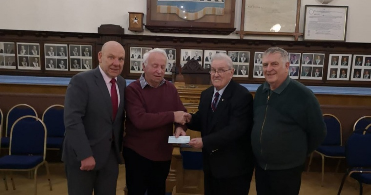 Masons' £500 donation for The Peter Brook Centre